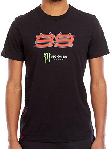 Jorge Lorenzo Camiseta Monster Energy Monster Energy 2017 99 Negro (XL, Negro)