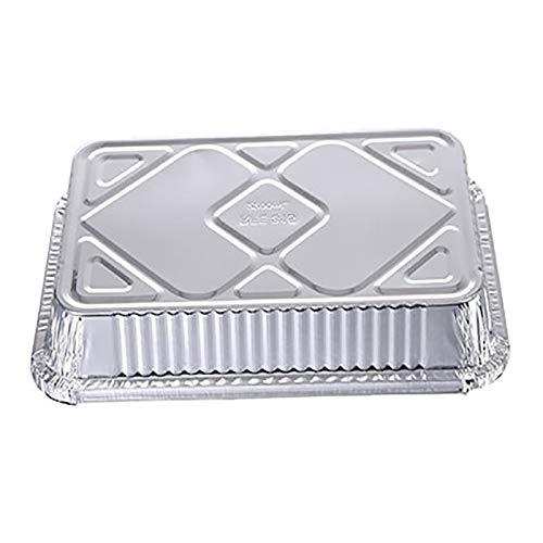 10pcs Einweg-Grill Auffangwannen Aluminium Foil Fettrecyclingfähig Grill Fang-Behälter for Weber Outdoor-Zubehör Backzubehör (Farbe : 10 pcs)