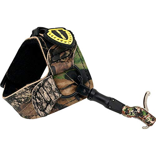 TruFire Hardcore Buckle Foldback Adjustable Archery Compound Bow Release - Camo Wrist Strap with Foldback Design