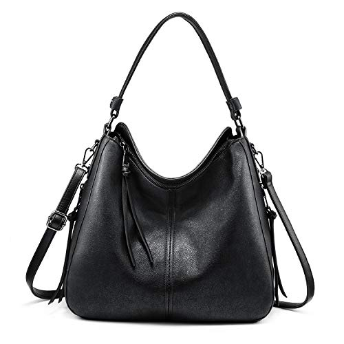 ❤️Classic Hobo Purse: Top zipper closure, with 2 side zipper pockets design and elegant tassels decoration, fashionable and practical handbags for women, perfect for shopping, dating, travel and business ❤️Updated Women Handbags: High quality PU leat...