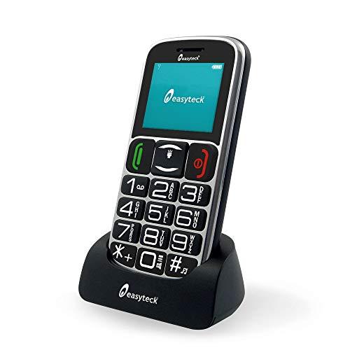 Easyteck T103C Cellulare Bluetooth SOS Tasti Grandi e Parlanti Vivavoce Torcia Radio
