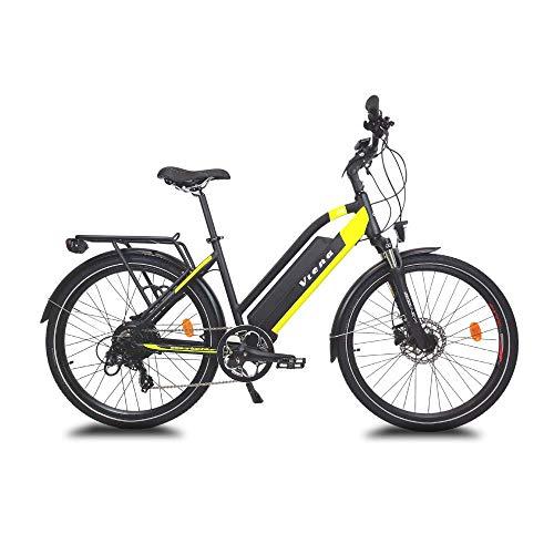 URBANBIKER Bicicleta eléctrica Viena, batería de Litio de 840Wh (48V y 17,5Ah), Motor de 350W, 28 Pulgadas, tamaño 49, Amarillo