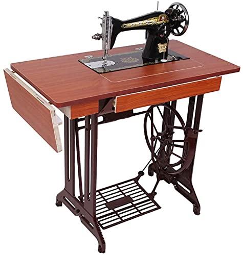 HSWYJJPFB Máquina de Coser Vintage para el hogar, Manual de Sastre, operada con el pie, máquina de Coser Gruesa con Marco de Hierro, anticuada 20210919(Size:b)