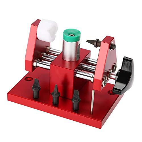 Herramientas de reparación de relojero, desmontador de banco de trabajo con abridor de tapa de caja de reloj clic, portátil, para relojeros y relojeros