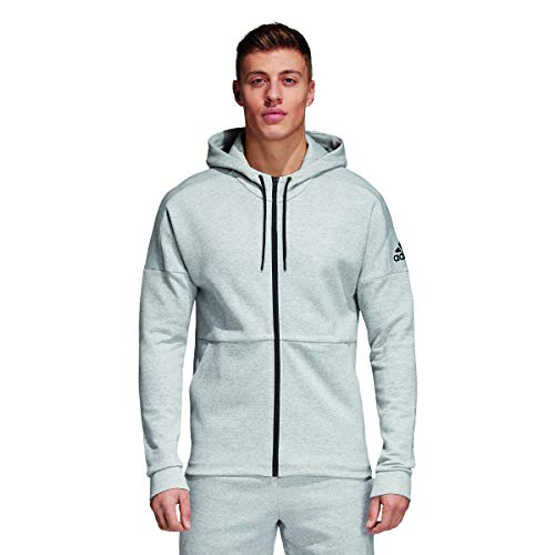 adidas Herren Kapuzen-Jacke ID Full Zip, Stadium Heather/Medium Grey Heather, L, CG2088