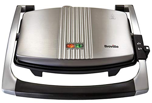 Breville Sandwich/Panini Press and Toastie Maker, 3-Slice, Stainless Steel...