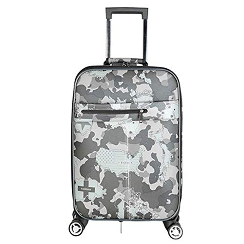 Luggage 20 Inch Password Box PU Oxford Cloth Suitcase Trolley Case Suitcase Universal Wheel Luggage 24 Inch For travel and business trips (Color : C3, Size : 20inch)