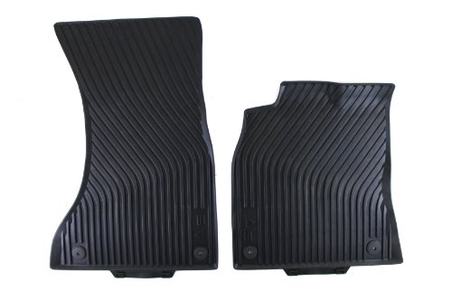Genuine Audi Accessories 8T1061221041 Black Front All-Weather Floor Mat for Audi A5 Coupe/Cabriolet