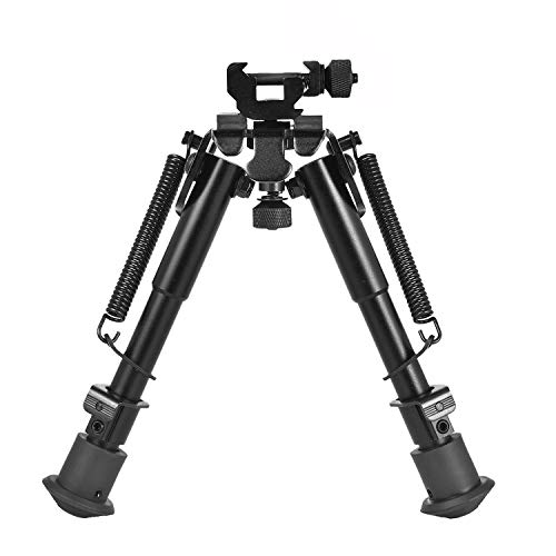 CVLIFE 6-9 Inches Rifle Bipod with 360 Degree Swivel Picatinny Adapter & Spring Return