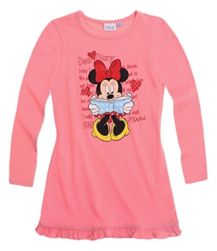 Minnie Mouse Kollektion 2014 Nachthemd 86 92 98 104 110 116 122 128 Mädchen Neu Nachtwäsche Maus L14 Darkrosa (86 - 92)