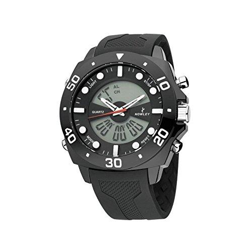 Reloj NOWLEY 8-5269-0-1 - Reloj Hombre analógico y Digital con cronografo, Alarma, Dual Time y Temporizador.
