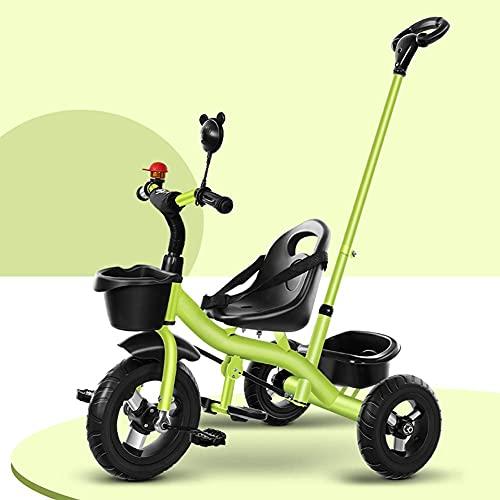 Tricycle Trike 2 in 1 bambini Tricycle con pedale, altezza multifunzione regolabile per allenamento all'aperto Bicycle, per 1-6 anni ragazzi e ragazze regalo di compleanno, manubrio a pressione rimovi