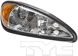 CarLights360: Fits 1999-2005 Pontiac Grand Am Headlight Assembly Passenger Side (Right) DOT Certified w/Bulbs - Replacement for GM2503196