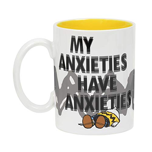 "Department 56 Peanuts ""My Anxieties Stoneware Mug, 16 Ounces, Multicolor"