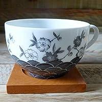 Tasse à thé porcelaine déco fleurs de cerisier japonais