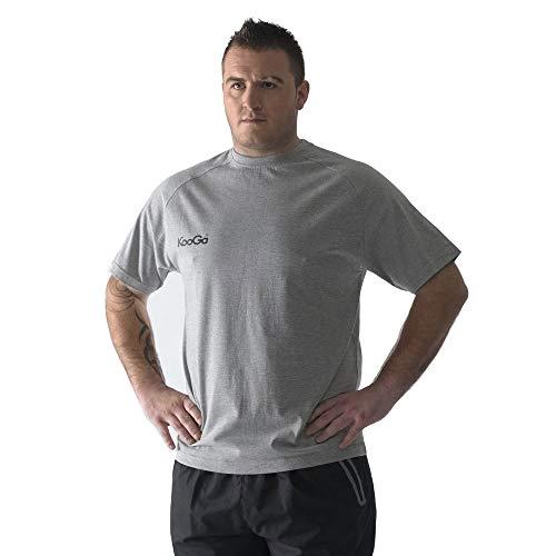 Kooga Basique T-shirt imprimé gris/noir enfants - Gris, Junior Medium