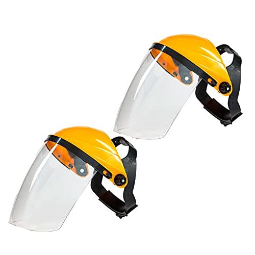sharprepublic Protector facial completo Casco de soldadura cómodo y ligero Cubierta facial reutilizable - amarillo top blanco 🔥