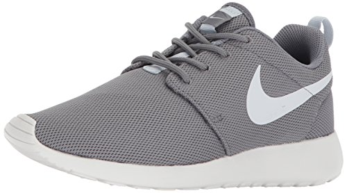 Nike Womens Roshe One Fabric Low Top Lace Up Running Sneaker, Grey, Size 8.5