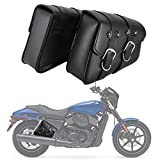 INNOGLOW Motorcycle Waterproof Saddle bags Side Bags Tool Bag Swingarm Bag PU Leather for Harley Sportster XL XL883 XL1200