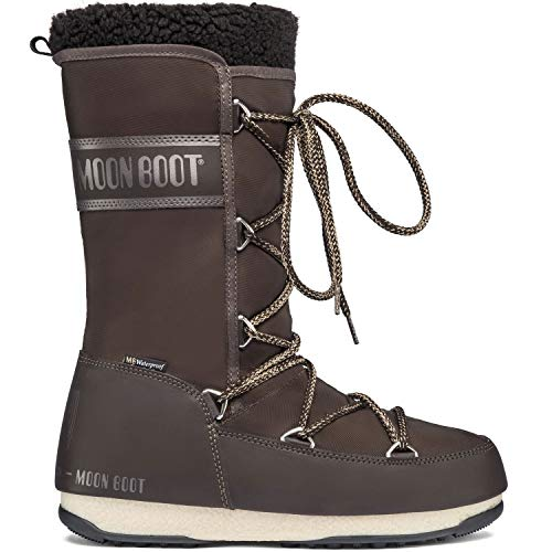 Moon Boot Monaco Wool Wp Stiefel Damen Braun - 40 - Schneestiefel Shoes