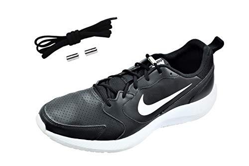 N3 Schnürsenkel ohne binden | Elastische Schnürsenkel | Schnellschnürsystem mit hochwertigem Metall Lock-Verschluss | Kinder & Erwachsene | Schnürsenkel-Set, schwarz