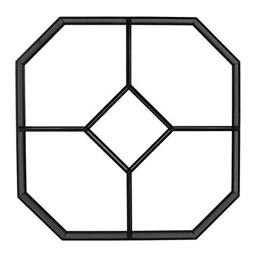 Buachois 15.9 × 15.9 × 1.6in Molde para Hacer Caminos DIY Pavimento de Hormigón Molde de Ladrillo PP Plástico para Jardín Stepping Stone Césped Patio Patio Pavimento Decoración 5 Rejillas