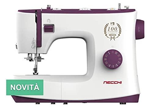 Necchi K132A - Máquina de coser, interior de fundición a presión, de aluminio, carcasa de ABS, violeta, normal