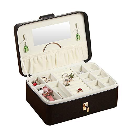 Liuxiaomiao Jewelry box koffer juwelen Sieraden Doos Desktop Stud Oorbellen Opbergdoos Sieraden Doos Leuke Princess Opbergdoos Opslag vitrine voor reizen, hotel