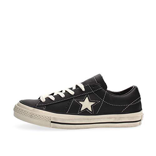 Converse Lifestyle One Star Distressed Ox, Zapatillas Unisex Adulto, Negro (Black/White/Egret 001), 44 EU