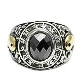 Beydodo Silber 925 Ring Herren Yin Yang Schwarz Zirkonia Partnerring Ring Silber Große 60 (19.1)