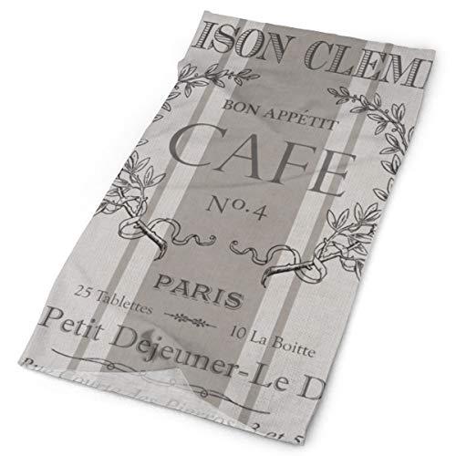 Nonebrand Moderno Vintage Café Francés Decorativo Multifuncional Tocado de la Cabeza Estirado al aire libre Cuello Transpirable Protección UV Escudo de la Cara Calentador de la Muñequera para todo el año