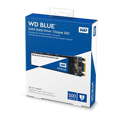 Western Digital WDS250G2B0B WD Blue 3D NAND Internal SSD M.2 SATA, 250 GB - Black