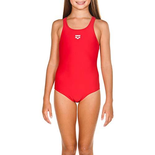 arena Mädchen Sport Badeanzug Dynamo (Schnelltrocknend, UV-Schutz UPF 50+, Chlor- /Salzwasserbeständig), rot (Red), 140