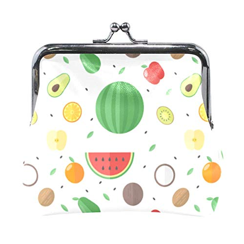 Coin Purse Clutch Wallet Cash Bag Change Holder Organizer Small Mini Storage Key Hold Colorful Fruit-K2-2S