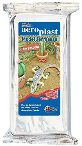Kreul 76501 - aero plast, gebrauchsfertige Modelliermasse, zum Modellieren im Kunst- und Werkunterricht, im Kindergarben, für Profis und kreative Freizeitgestaltung, 500 g, terracotta