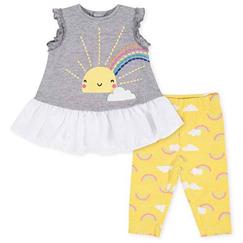 Gerber Conjunto de túnica y Leggings para bebé, Rayo de Sol Amarillo, 18 Meses