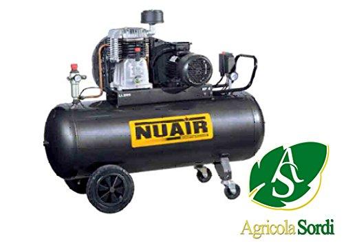 Nuair Compressore aria a pistone NB5/5 116 kg 200 LT groep pompante Bistadio