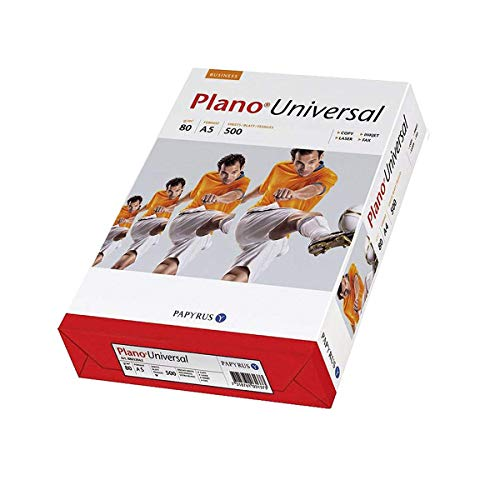 Papyrus 88110037 Drucker-/Kopierpapier PlanoUniversal, DIN A5, 80g/qm², 500 Blatt, weiß