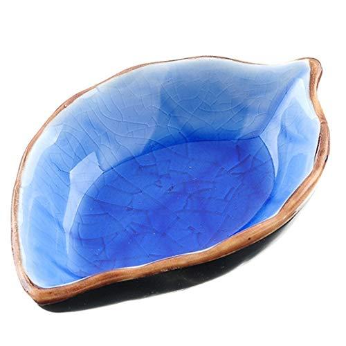 Caja de cerámica en forma de hoja Caja de condimentos múltiples para...