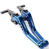 CNC Moto Embrague Palanca Palancas de Freno de Embrague Ajustables Extensibles para Motocicleta para Y-amaha T&MAX 530 TMAX530 T-MAX 530 SX DX 2012-2019 Palanca (Color : Azul)