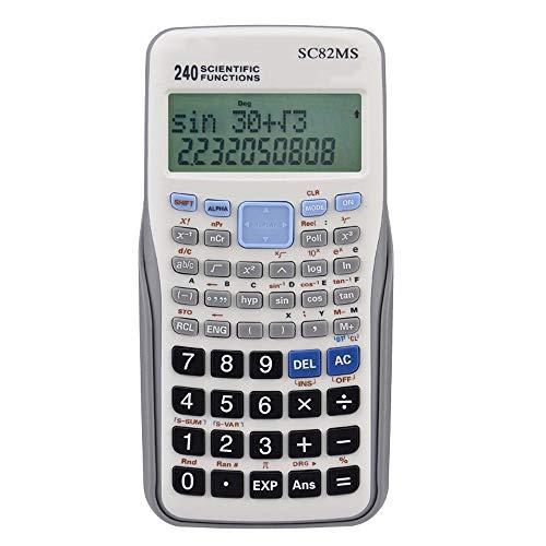 YaGFeng Taschenrechner Wissenschaft Funktion Rechner Test-zweizeiliges Display Statistisches Variable for Secondary School Students