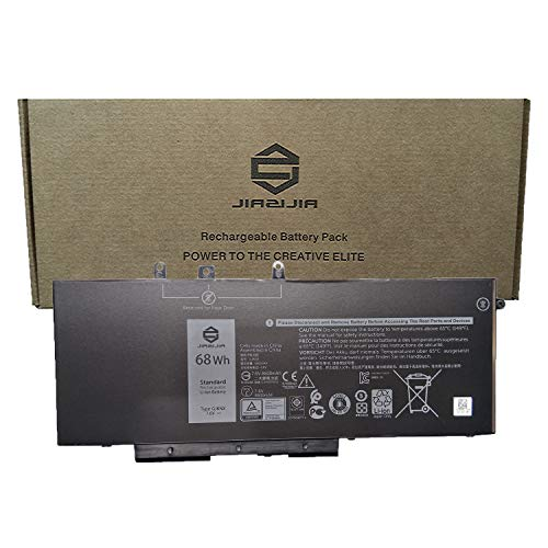 JIAZIJIA GJKNX Laptop Battery Replacement for Dell Latitude 5480 5580 5490 5590 5491 5591 5495 5488 Precision 3520 3530 Series 93FTF 3DDDG 0GD1JP GD1JP DY9NT 0DY9NT 5YHR4 KCM82 0KCM82 7.6V 68Wh