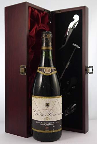 Berberana Gran Reserva Rioja 1952 en una caja de regalo forrada de seda con cuatro accesorios de vino, 1 x 750ml