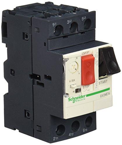 Schneider Electric GV2ME14 GV2ME Disjuntores Motor Magnetotérmicos, 6/10A, 89mm x 45mm x 78.5mm