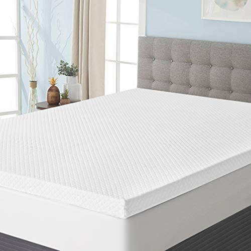 Starcast 3 Inch Gel Infused Memory Foam Mattress Topper Twin Size, High Density Cooling Ventilated Design Memory Foam Bed Toppers-Ultra Plush Mattress Toppers with Bamboo Cover