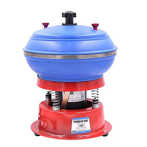 BAOSHISHAN 6L Hülsenpoliergerät Vibration Tumbler Vibrationspoliermaschine Für Metallteilen Edelsteinen Jade Autozubehör Schmuck 10 Zoll 220V 130W