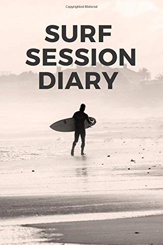 Surf Session Diary: Track every session in the surf in one place with his handy guide for travelling and local surfers, with swell, wind, tide for your custom surf journal and diary.