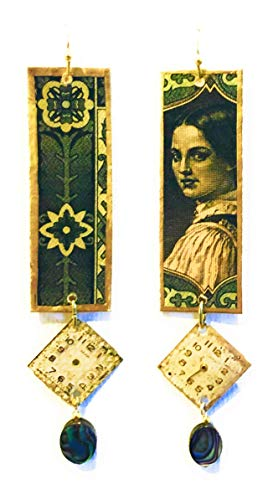 Half Treble Clef Clock-Hand Earrings