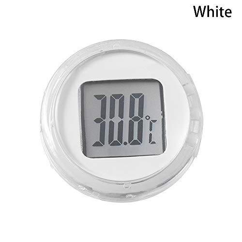 Neu Mini! Interieur Typ einfügen Thermometer für Motorrad Digitale Instrumente Temperatur Meter(White)