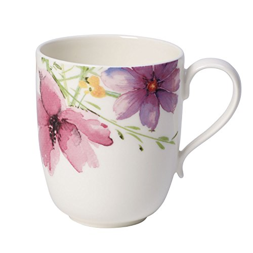 Villeroy & Boch Mariefleur Tea Teetasse, 430 ml, Höhe: 7 cm, Premium Porzellan, Bunt